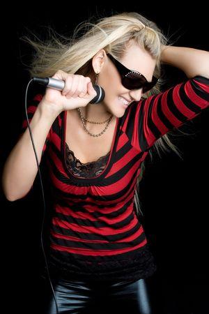 leather pants: Dancing Music Woman