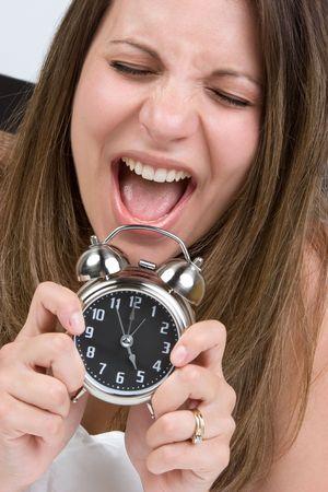 Shocked allarme Woman Archivio Fotografico - 5559744