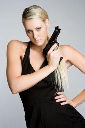 Spy Holding Gun Stock Photo - 5559743