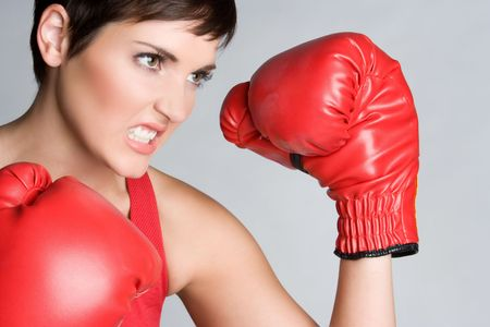 clenching teeth: Angry Boxing Girl