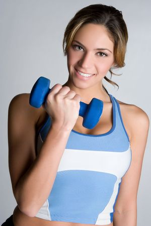 Smiling Exercise Girl Stock Photo - 5591245