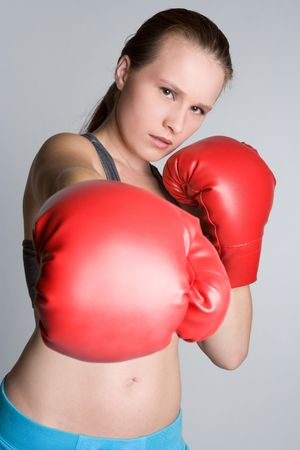 Young Boxing Woman Stock Photo - 5592699