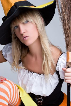 Young Halloween Witch Stock Photo - 5591256
