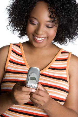 Woman Sending Text Message Stock Photo - 5604160