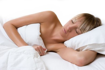 Sleeping Blond Woman Stock Photo - 5677109
