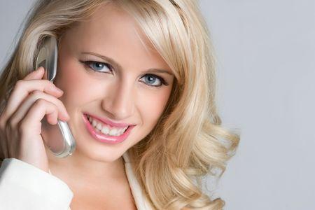 Blond Woman on Phone Stock Photo - 5604163