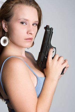 Gun Woman Stock Photo - 5634198