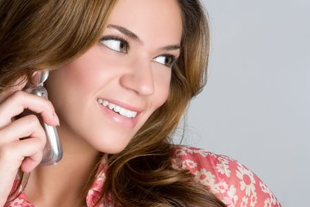 Woman Using Cell Phone Stock Photo - 5626345