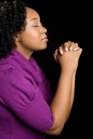 prayer: Praying Black Woman