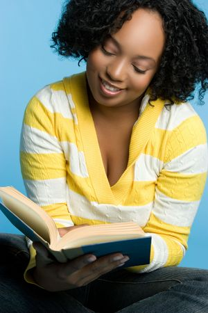 African American Girl Reading Stock Photo - 5668642