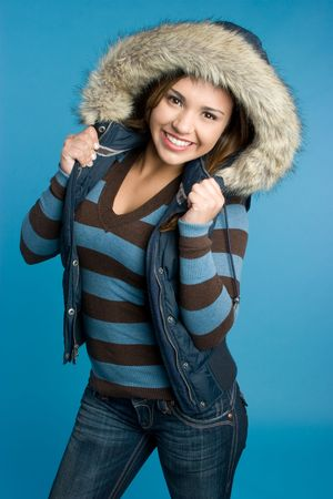 Girl Wearing Winter Coat