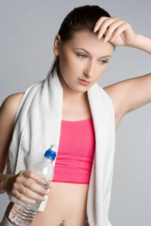Workout Woman Holding Water Bottle Stock Photo - 5668657