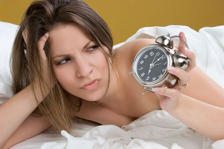 Alarm Clock Woman Stock Photo - 5668658