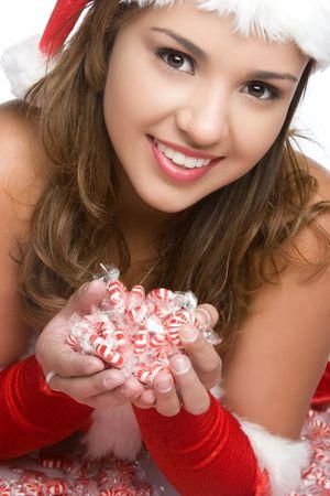 Christmas Candy Girl Stock Photo - 5668656