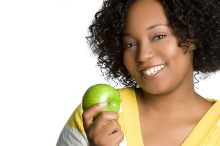 woman apple: Woman Holding Apple