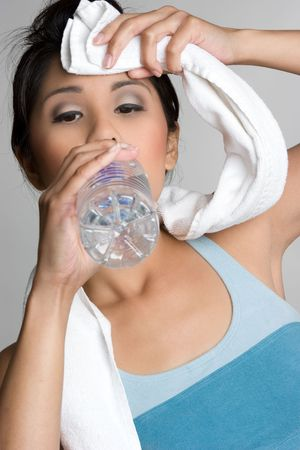 Asian Woman Drinking Water Stock Photo - 5716142