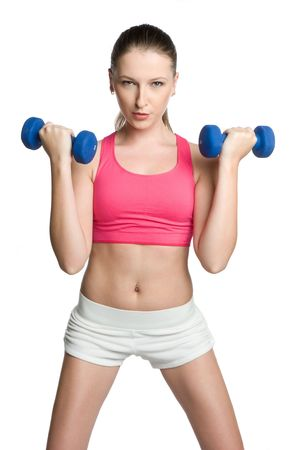 Isolated Fitness Woman photo