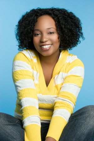 Smiling African American Woman Stock Photo - 5747537