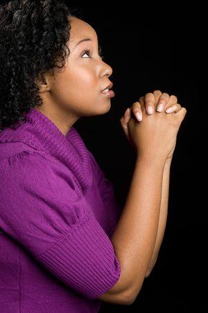 african worship: Praying Girl LANG_EVOIMAGES