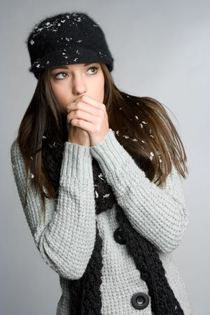Cold Winter Girl Stock Photo - 5788522