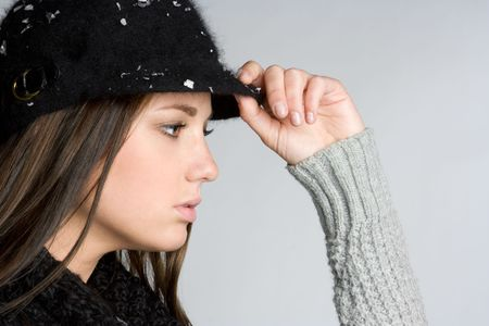 Winter Woman Wearing Hat Stock Photo - 5788519