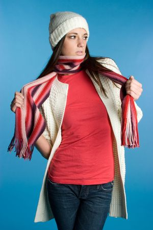 Winter Scarf Girl Stock Photo - 5788523