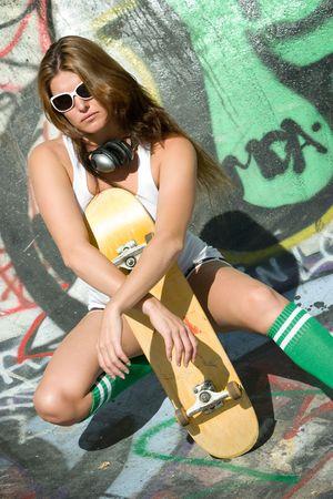 Skater Girl Stock Photo - 5788539