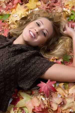 Autumn Girl Stock Photo - 5804160