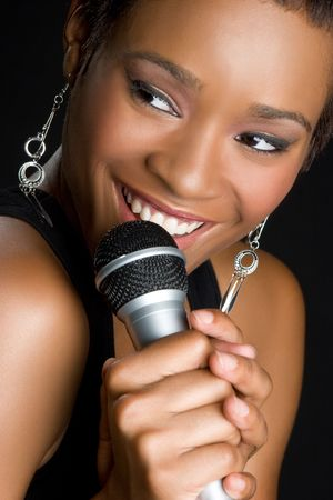 kareoke: Black Woman Singing LANG_EVOIMAGES