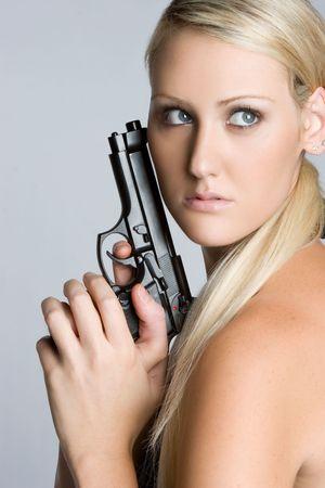 Sexy Woman Holding Gun Stock Photo - 5804156