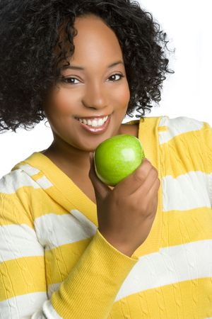 Woman Holding Green Apple Stock Photo - 5844870