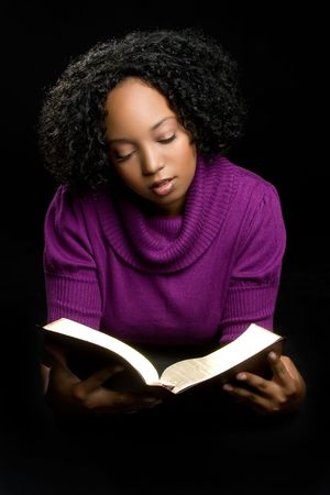 Woman Reading Bible Stock Photo - 5844862