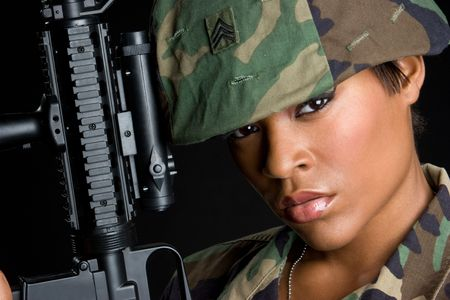 Military Woman Stock Photo - 5844868