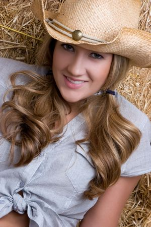 Smiling Country Woman Stock Photo - 5844888