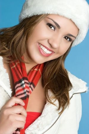 Winter Girl Smiling Stock Photo - 5844881