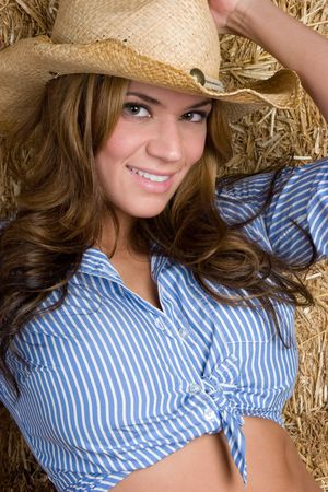 Pretty Country Girl Stock Photo - 5844902
