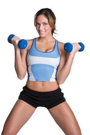 toned: Fit Woman Exercising