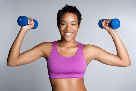 Black Woman Exercising Stock Photo - 5869512
