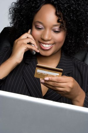 Credit Card Businesswoman Banco de Imagens