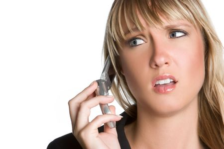 Frustrated Phone Woman Stock Photo - 5868334