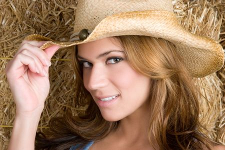Happy Country Woman Stock Photo - 5857848