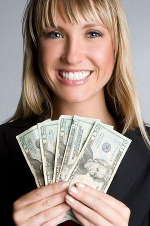 Money Geschäftsfrau Standard-Bild - 5869526