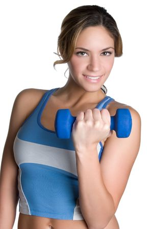 Girl Lifting Weights Stock Photo - 5888743