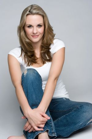 Casual Woman Smiling Stock Photo - 5888744
