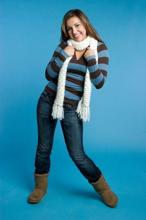 Playful Winter Girl Stock Photo - 5898936