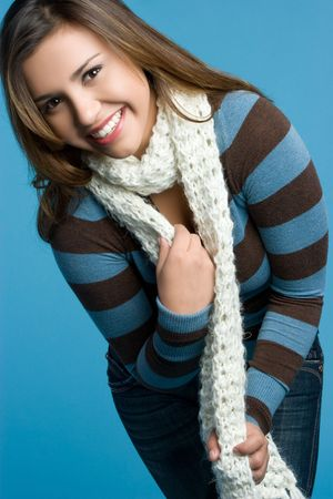 Winter Girl Wearing Scarf