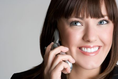 Smiling Phone Woman Stock Photo - 5931606
