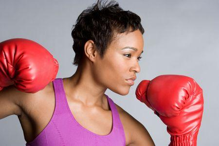 Jóvenes de Boxer Girl Foto de archivo - 5931609