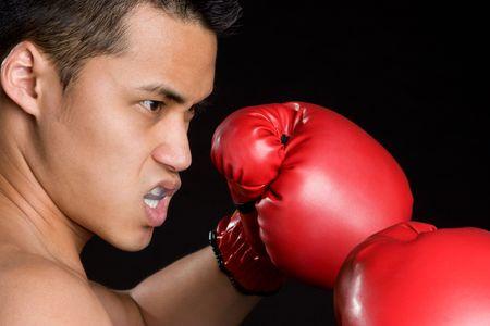 Asian Boxing Man Stock Photo - 5931605