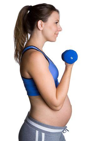 Travail hors de la femme enceinte Banque d'images - 5938547